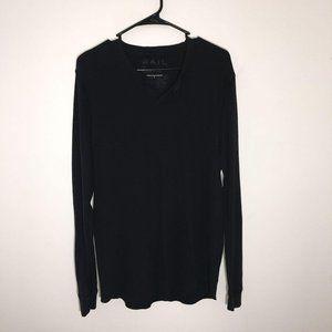 Rail Mens Long Sleeve Black Pullover Size XL